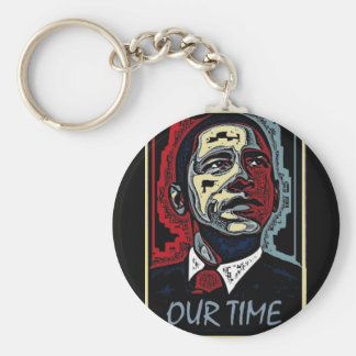 Obama Our Time Basic Round Button Keychain