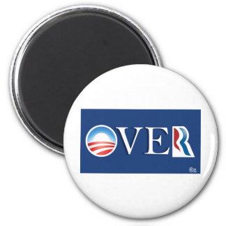 """Obama """"over"""" Romeny 2 Inch Round Magnet"""