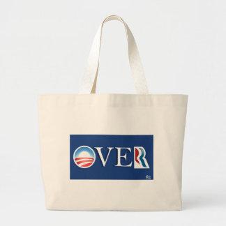 "Obama ""over"" Romeny Large Tote Bag"
