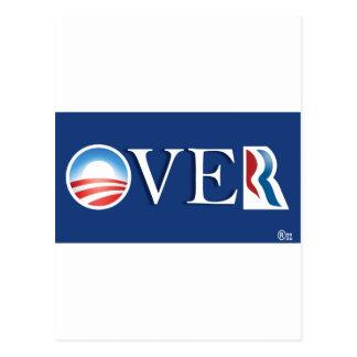 Obama over Romeny Postcards