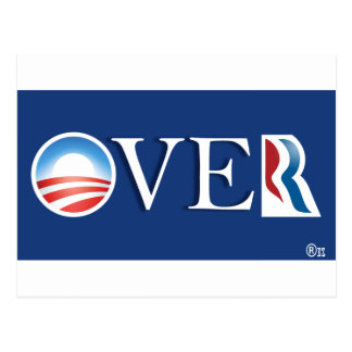 "Obama ""over"" Romeny Postcard"