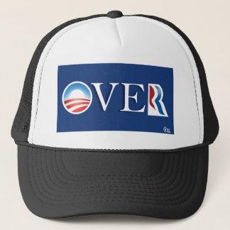 """Obama """"over"""" Romeny Trucker Hat"""