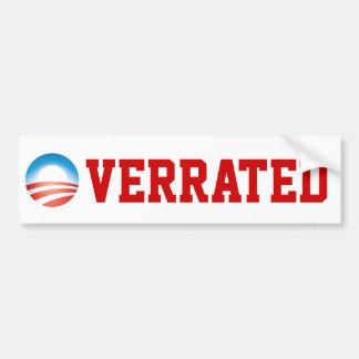 Obama Overrated Bumper Sticker