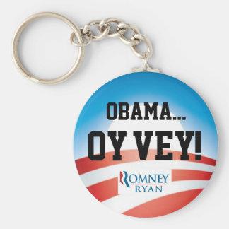 Obama Oy Vey Keychain