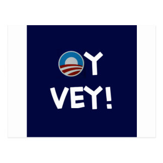 obama oy vey postcard