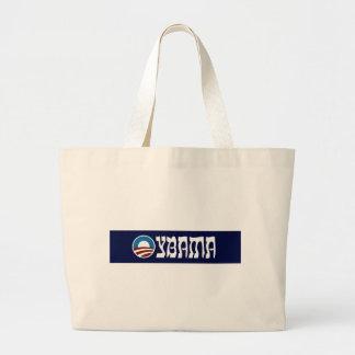 obama oybama hebrew letters large tote bag