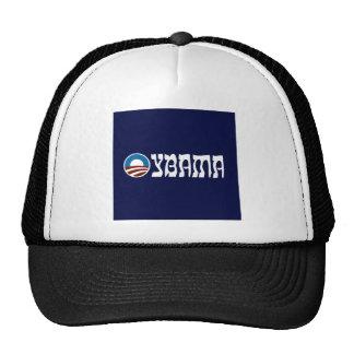 obama oybama hebrew letters trucker hat