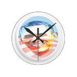 Obama para América Relojes De Pared