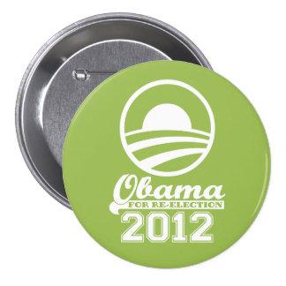 OBAMA para el botón 2012 (cal) de la campaña de Pin Redondo De 3 Pulgadas