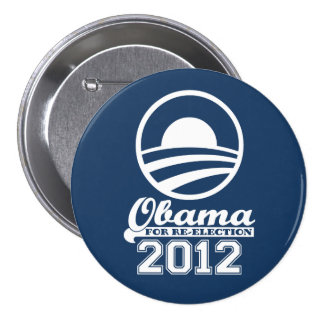 OBAMA para el botón 2012 (marina de guerra) de la Pin Redondo De 3 Pulgadas