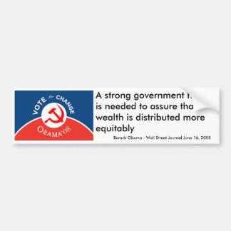 Obama para el cambio - pegatina para el parachoque pegatina para auto