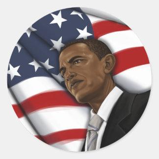 Obama para el engranaje 2012 de la elección del pegatinas redondas
