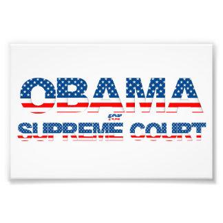 Obama para el poster del Tribunal Supremo Cojinete