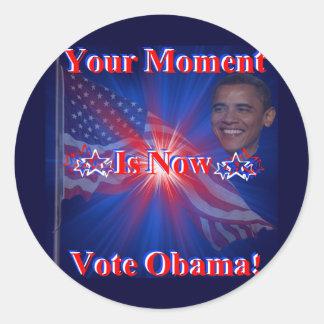 Obama para el presidente '12 pegatina redonda