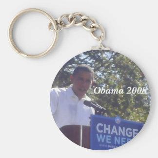 Obama para el presidente 2008 llavero personalizado
