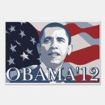 Obama para el presidente 2012 letreros