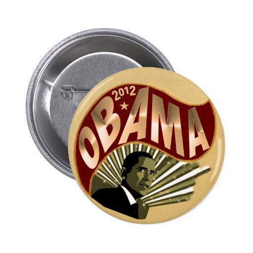 Obama para el presidente 2012 pin