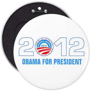 Obama para el presidente 2012 pin redondo 15 cm