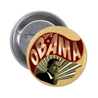 Obama para el presidente 2012 pin redondo de 2 pulgadas
