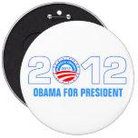 Obama para el presidente 2012 pins