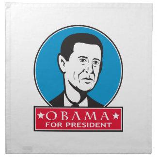 Obama para el presidente americano servilletas