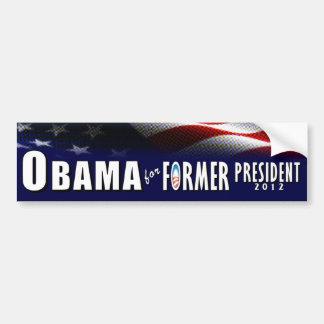 Obama para el presidente anterior 2012 pegatina para auto