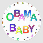 ¡Obama para el presidente, bebé! Pegatinas Redondas