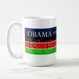 Obama para el presidente de la taza de Kenia