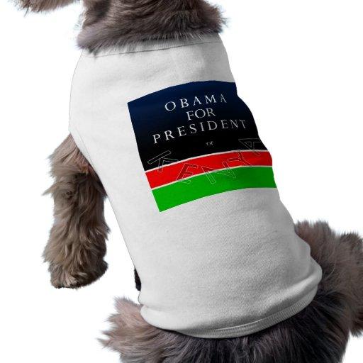 Obama para el presidente de las camisetas sin mang camisa de perrito