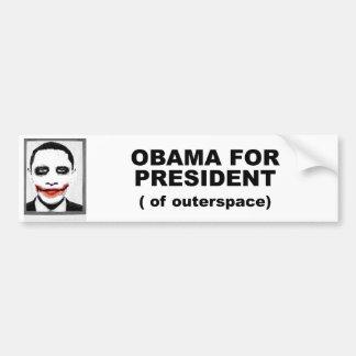 Obama para el presidente de Outerspace Pegatina De Parachoque