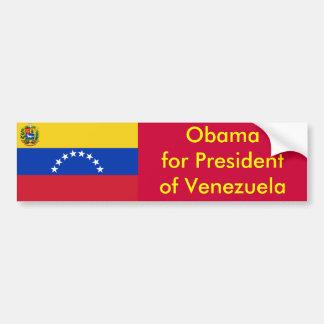 Obama para el presidente de Venezuela Pegatina Para Auto