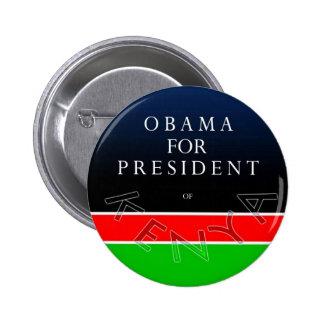 Obama para el presidente del botón de Kenia Pin Redondo De 2 Pulgadas