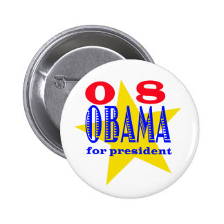 Obama para el presidente el | pin redondo de 2 pulgadas