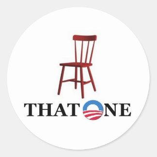 Obama para el presidente etiquetas redondas