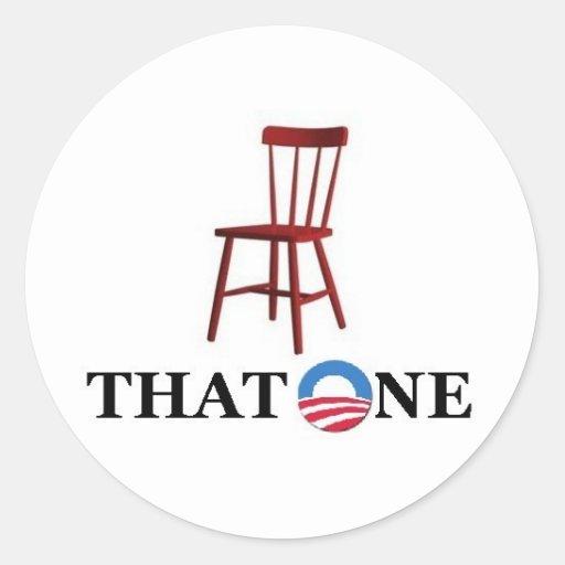 Obama para el presidente pegatina redonda