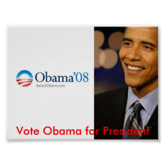 Obama para el presidente póster