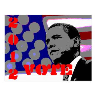 Obama para el presidente tarjeta postal