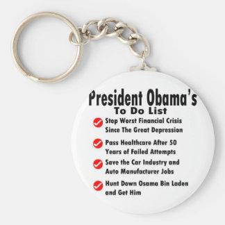 Obama para hacer la lista llavero redondo tipo pin