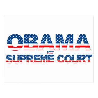 Obama para la postal del Tribunal Supremo