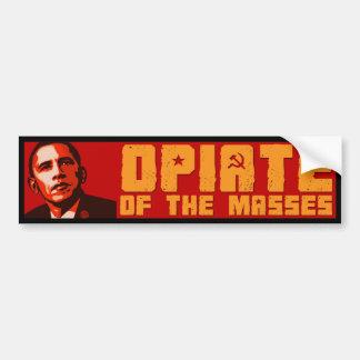 Obama para las masas pegatina para auto