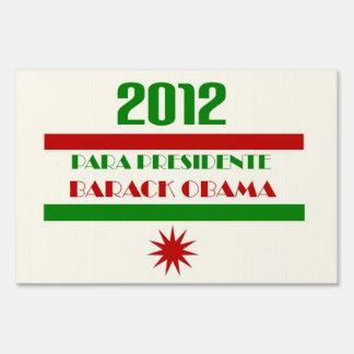 Obama Para Presidente 2012 Lawn Sign