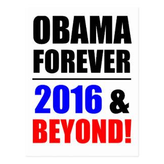 Obama para siempre ¡2016 y más allá postal