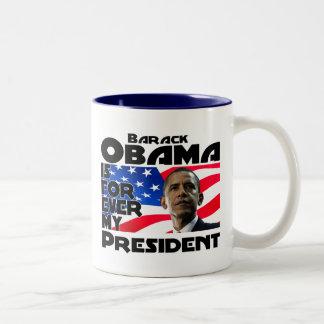 Obama para siempre tazas