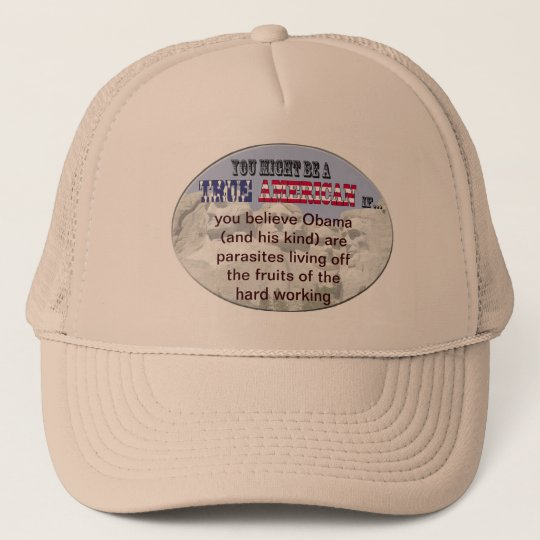 obama parasites trucker hat