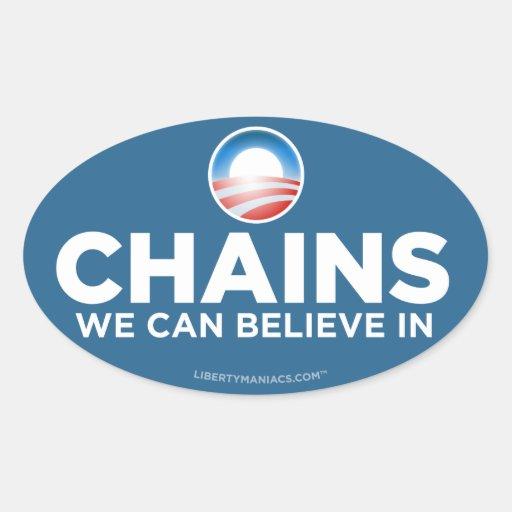 Obama Parody Chains Sticker