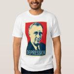 Obama parody poster shirt: Depression (FDR) Tee Shirt
