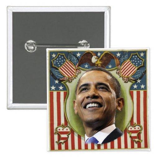 Obama Patriotic Square Button