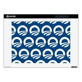 OBAMA PATTERN WHITE AND BLUE.png Acer Chromebook Decals