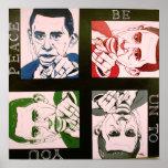 """""""Obama, paz sea a usted"""" arte del poster"""