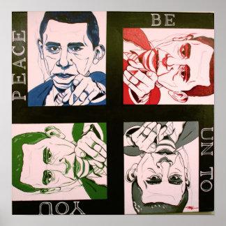 Obama paz sea a usted arte del poster